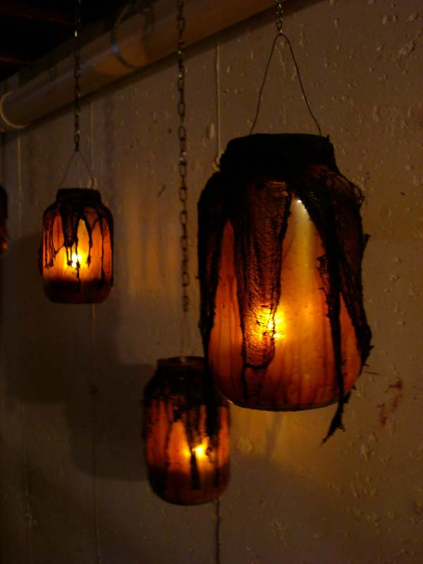 DIY Mason Jar Halloween Lanterns