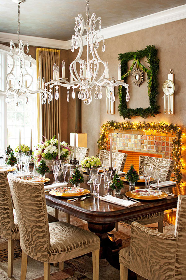 Dining Room Table Christmas Decorations