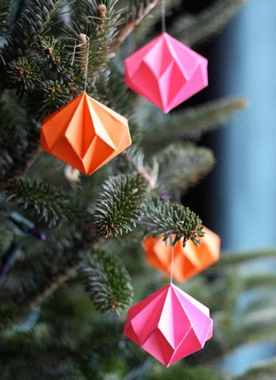 Easy Origami Christmas Ornaments
