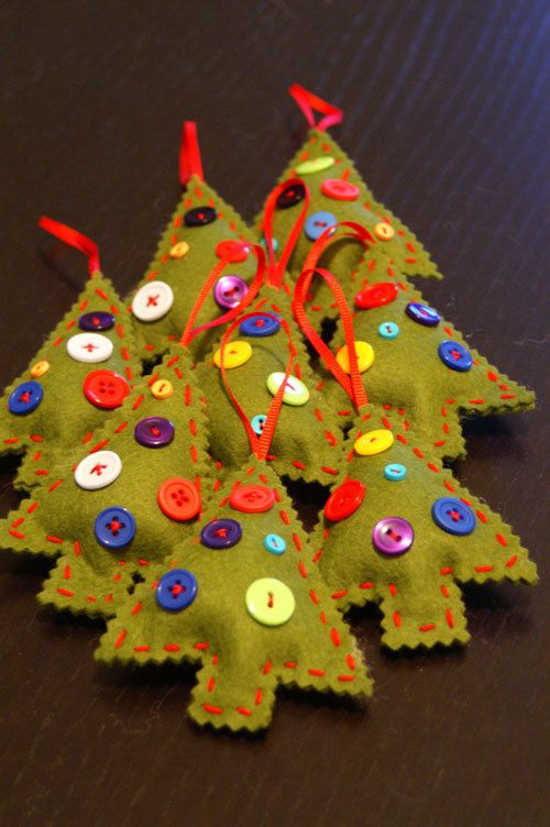 Felt Christmas Ornament Tree Ideas