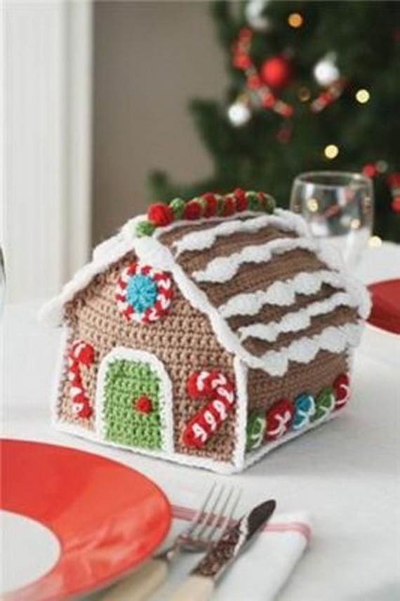 Free Crochet Gingerbread House Pattern