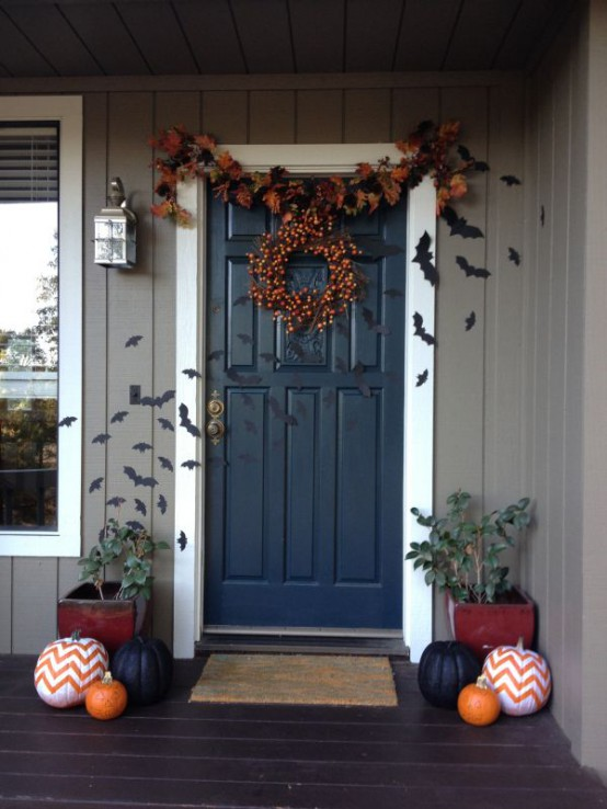 Front Door Halloween Decoration 2016