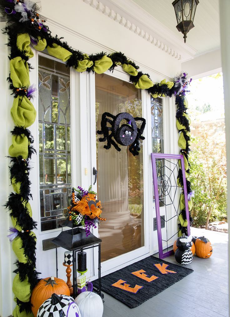 Front Doors Outdoor Halloween Decorations Decoration Love
