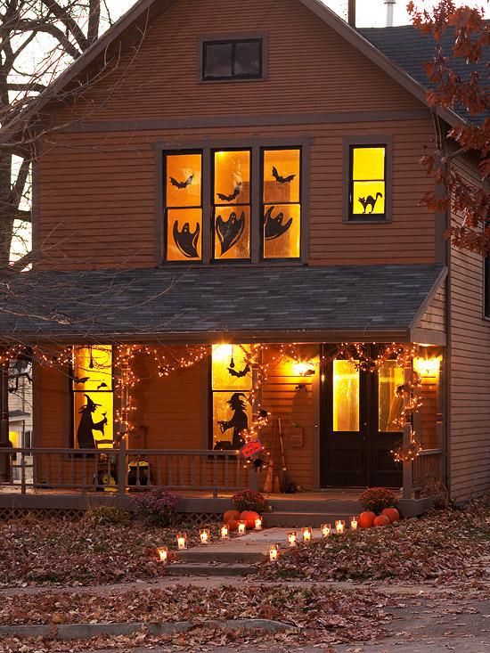 Halloween Window Decorations Silhouettes