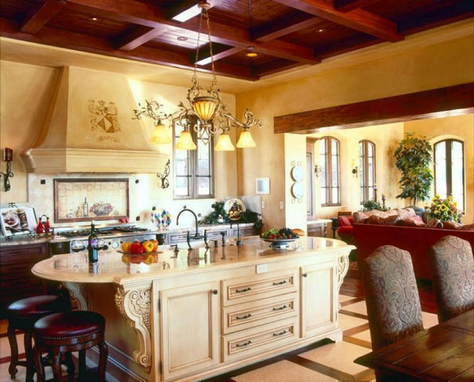 Mediterranean Tuscan Kitchen Design Ideas