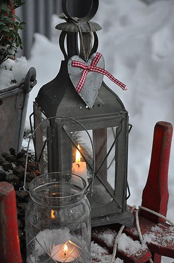 Outdoor Christmas Decorating Ideas Lanterns