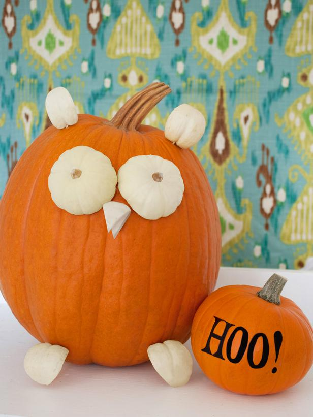 Owl Halloween Pumpkin Decorating Ideas