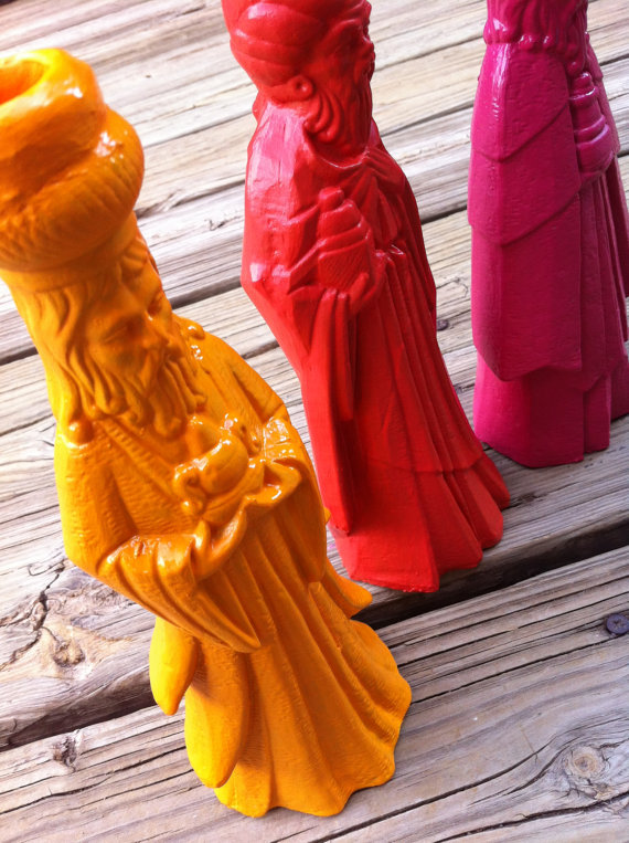 Pic of Christmas Wise Men Candle Holders