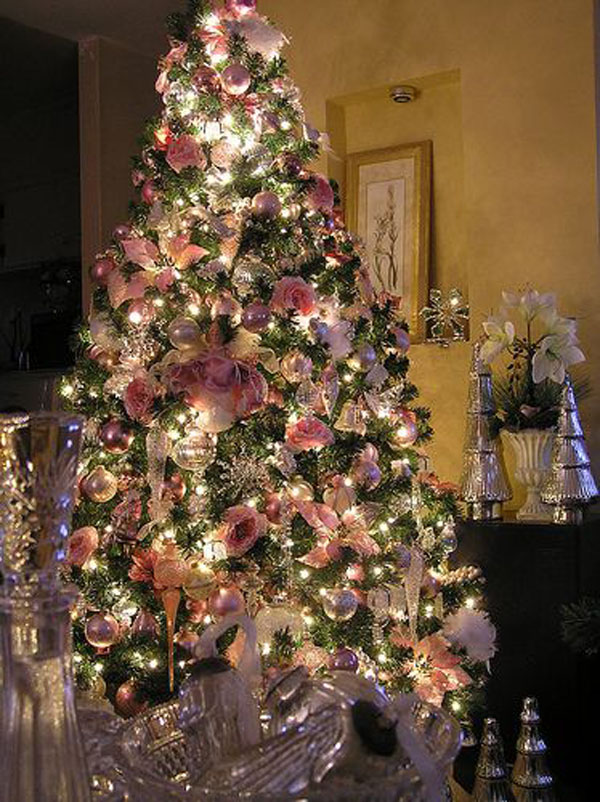 Pink Decorated Christmas Tree