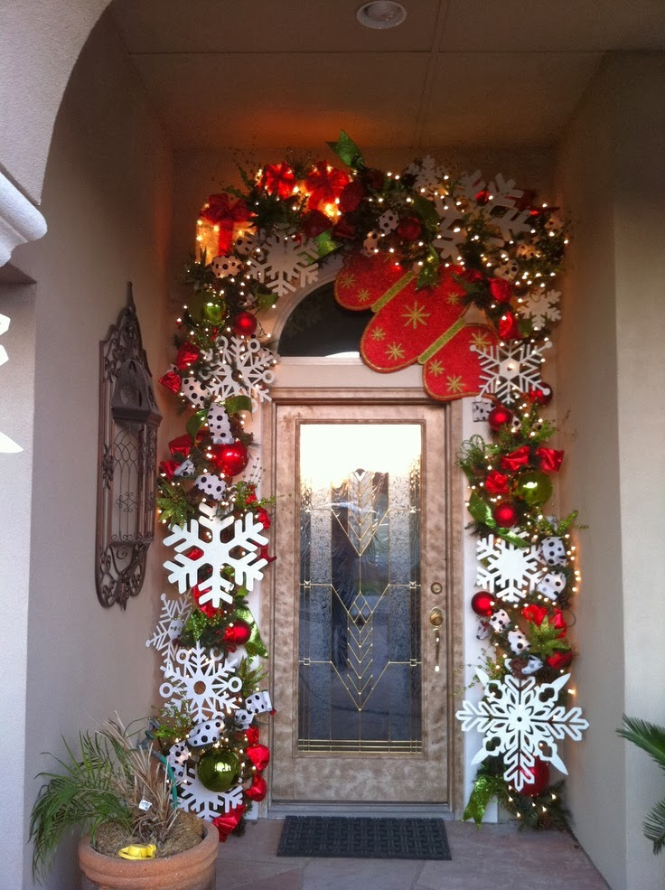 Snow Flakes Christmas Door Decor