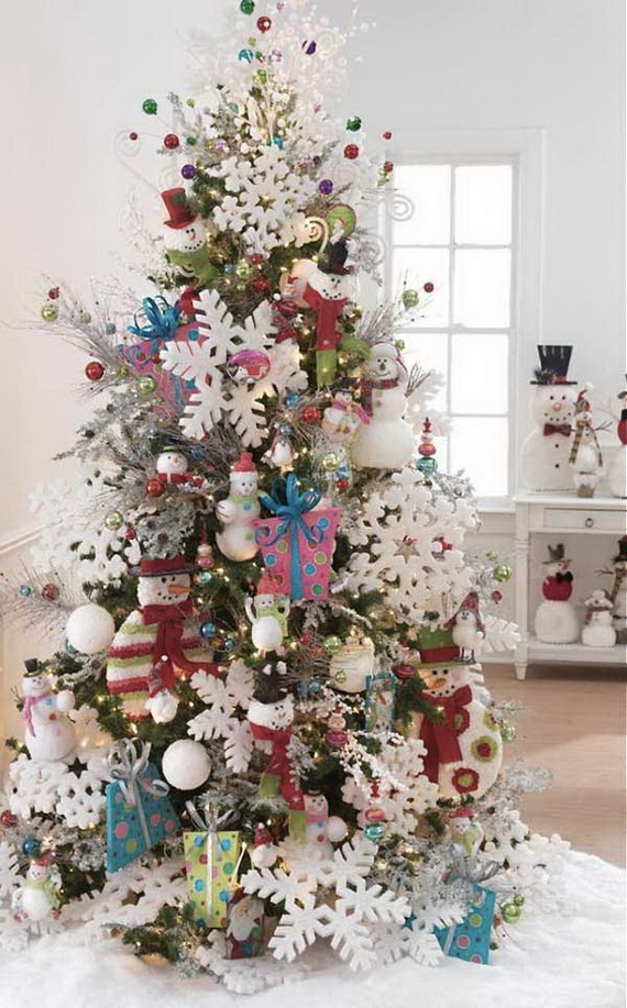 Snowman Christmas Tree Ideas