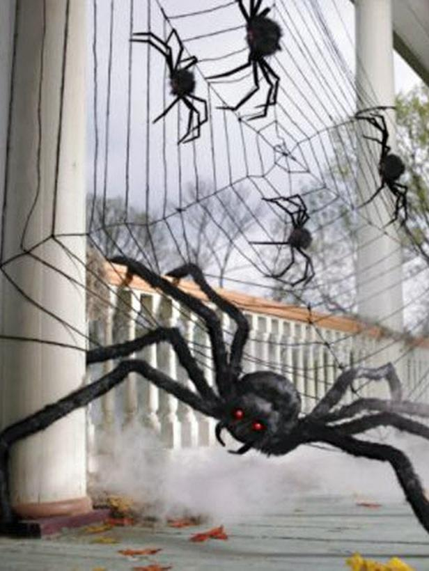 spider webs outdoor halloween decorations decoration love