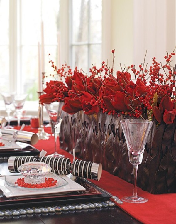 Table Centerpiece Decoration Idea for Christmas