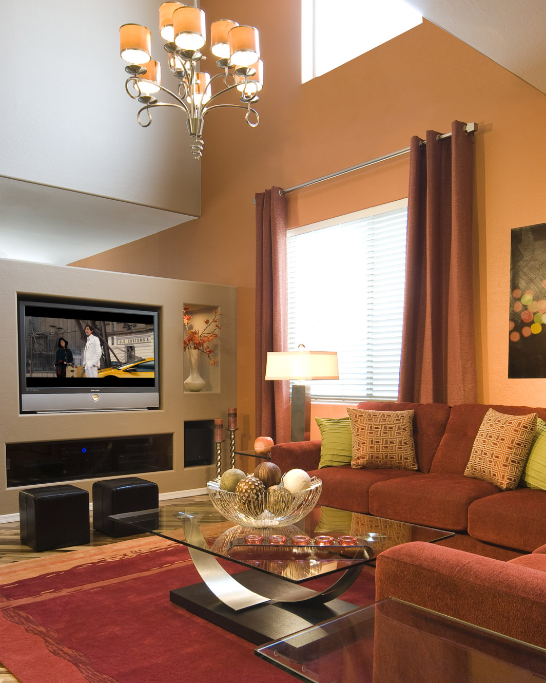 30 Small Living Room Decorating Ideas: 30 Living Room Design Ideas With TV Set On Wall