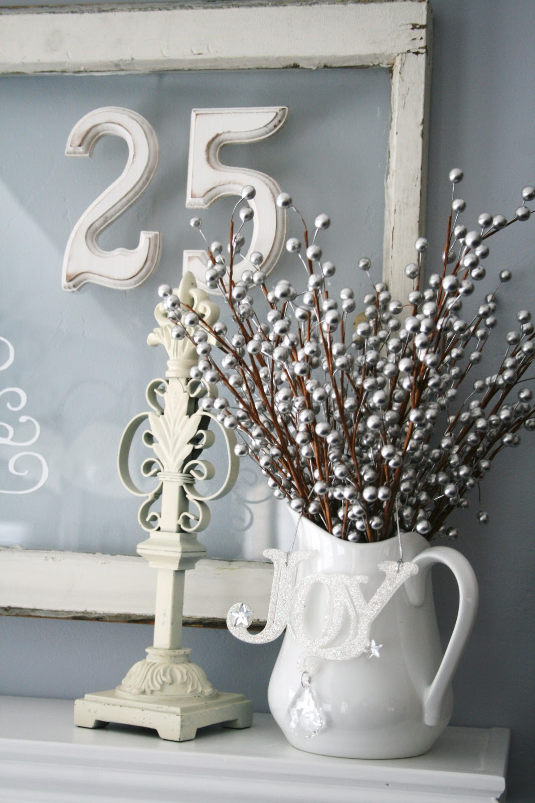 Blue White and Silver Christmas Decorating Ideas