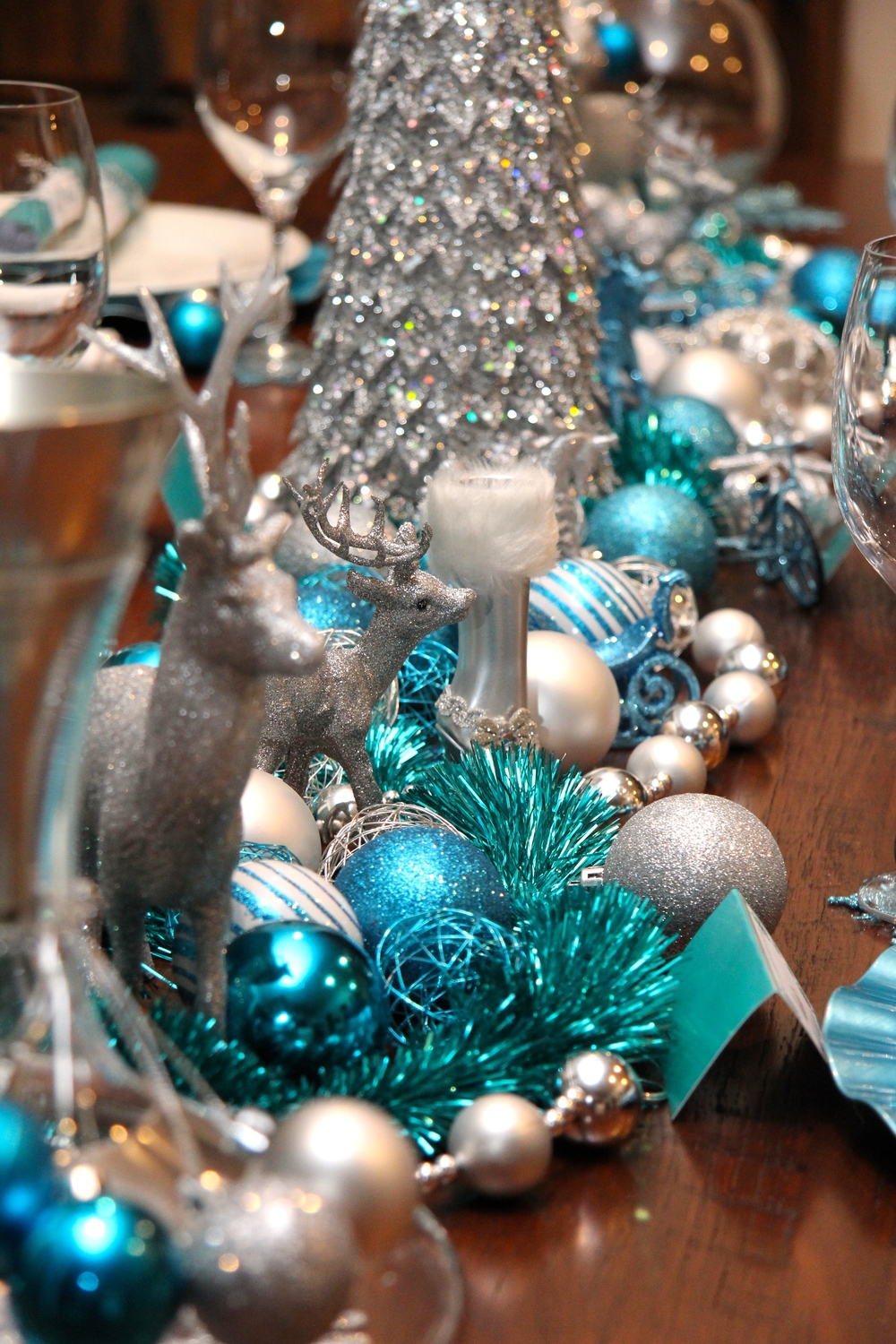 Christmas Blue Silver Party Decorations