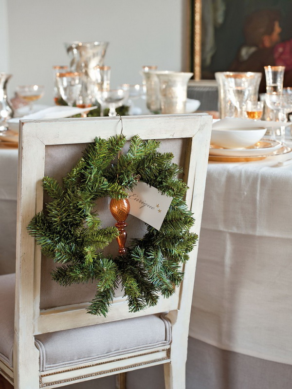 Christmas Chair Decoration Ideas Table