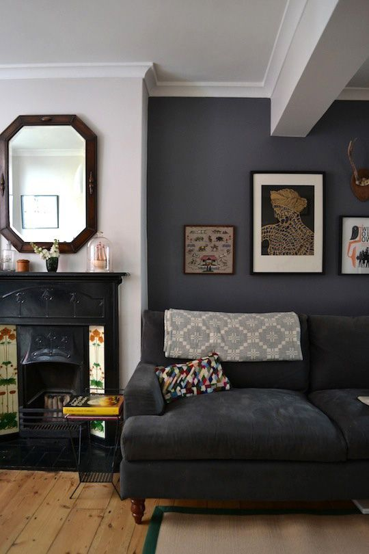 dark-grey-walls-living-room-ideas