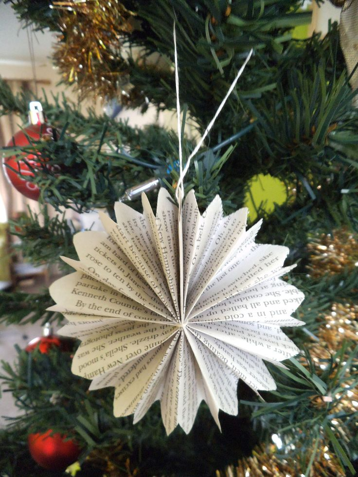 Folded paper christmas decorations