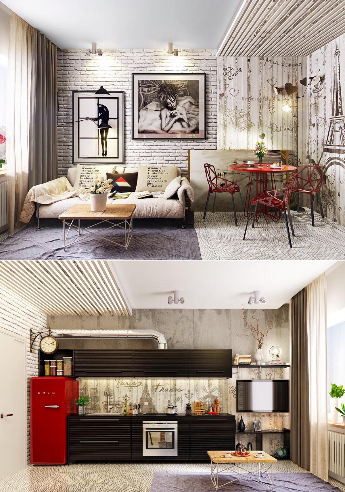 Custom Room Design Online: 25 Industrial Living Rooms Design Ideas
