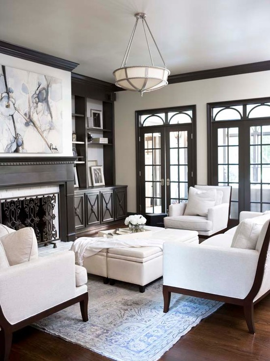 living-room-with-dark-wood-trim
