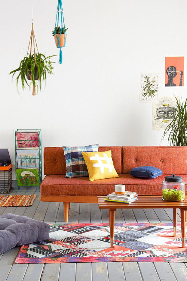 mid-century-orange-sofa-living-room