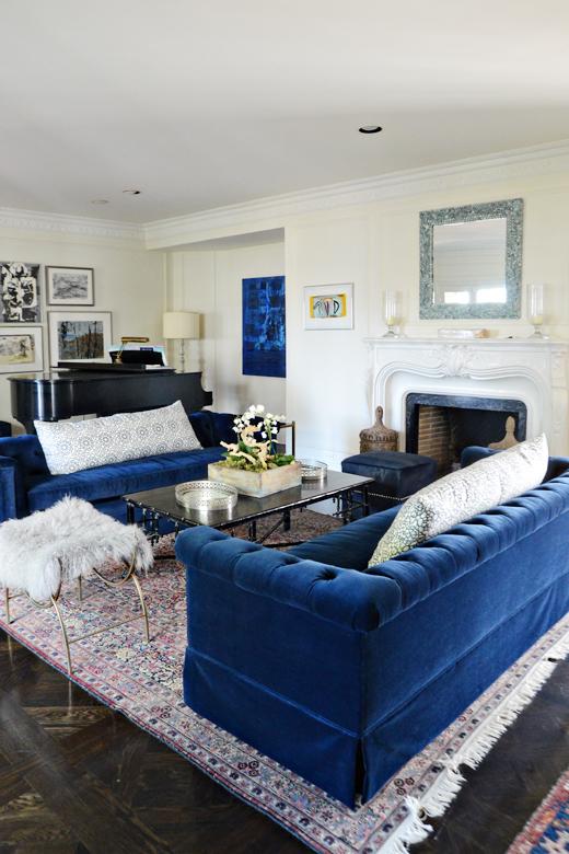 27 Navy Living Room Design Ideas - Decoration Love