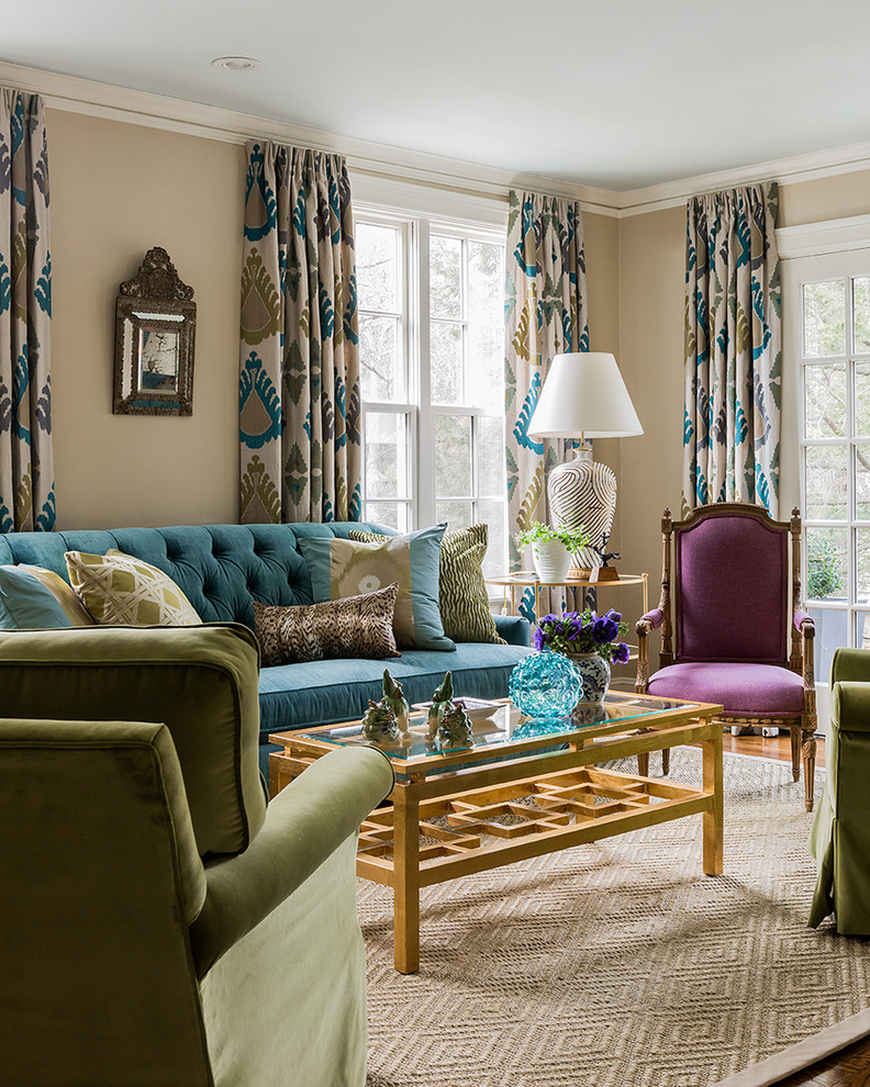 Living Room Design Green: 25 Teal Living Room Design Ideas