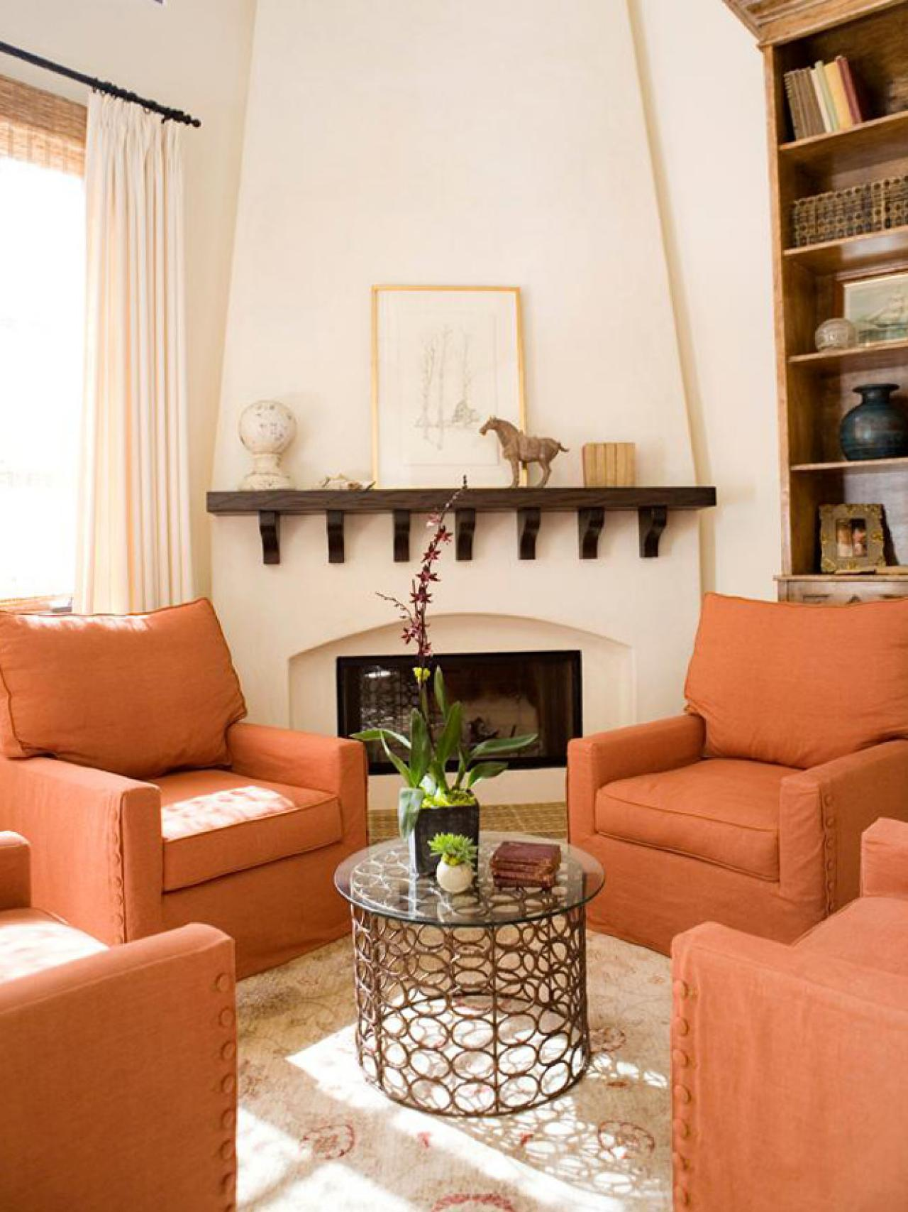 28 Stunning Orange Living Room Designs Ideas Decoration Love