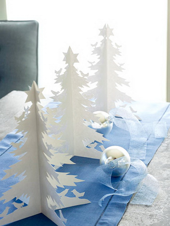 Paper Christmas Tree Centerpieces