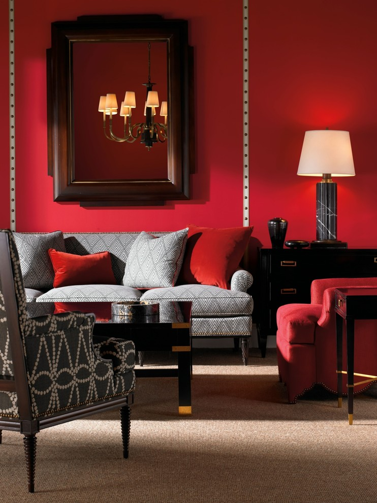 red-and-gray-living-room