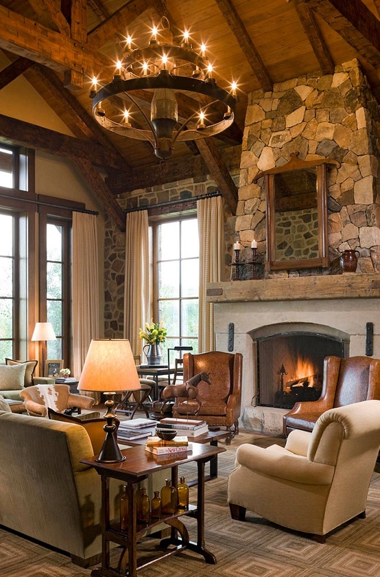 rustic-living-room-chandelier
