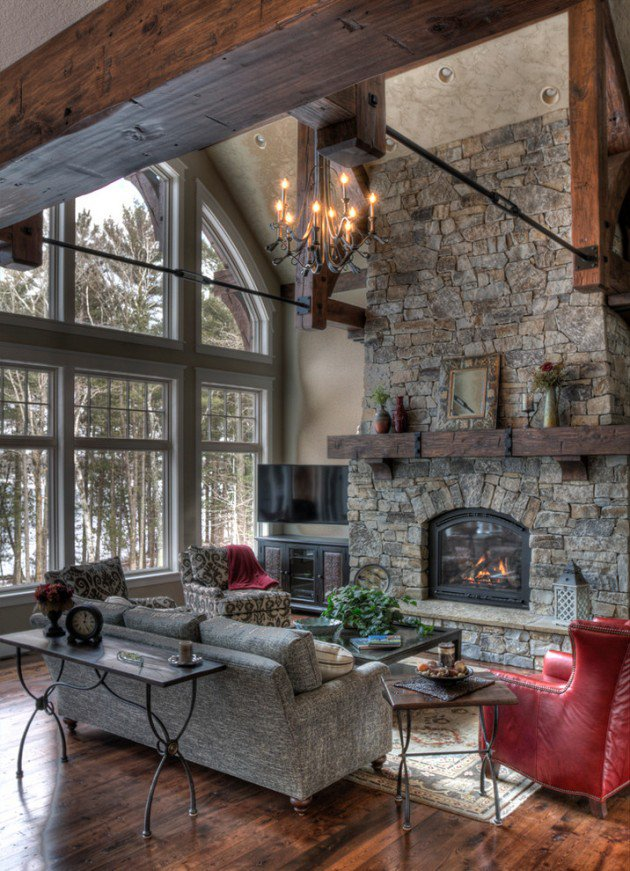 rustic-living-room-with-fireplace-ideas