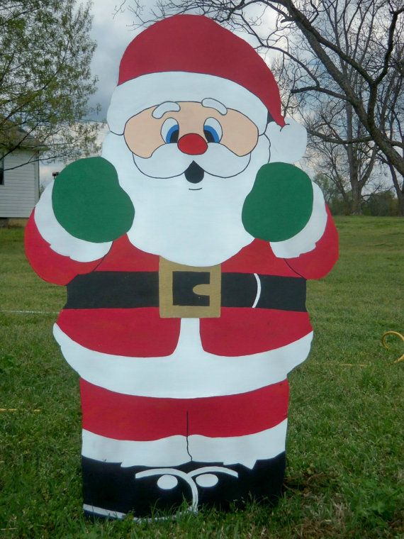 Wooden Christmas Yard Art Decorations