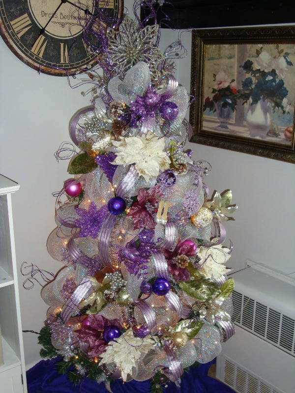 Blue Purple And Silver Christmas Tree