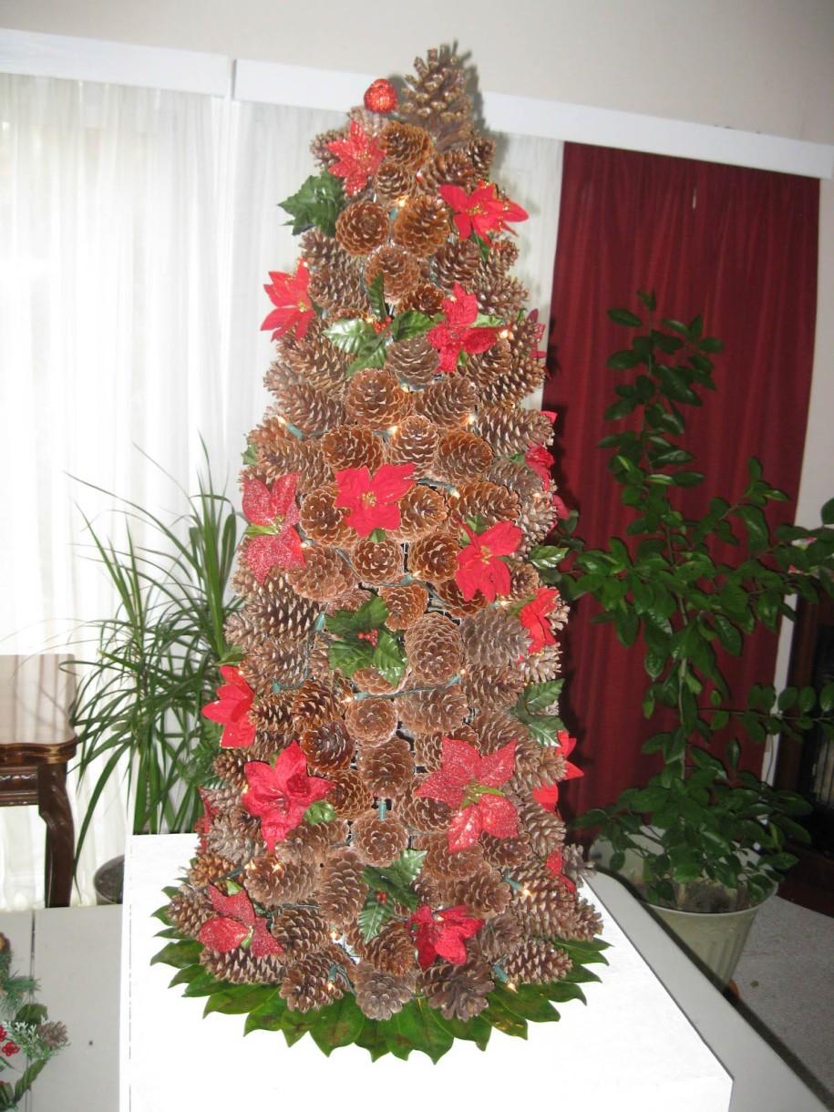 37 Amazing Pine Cone Christmas Tree Decorations Ideas ...
