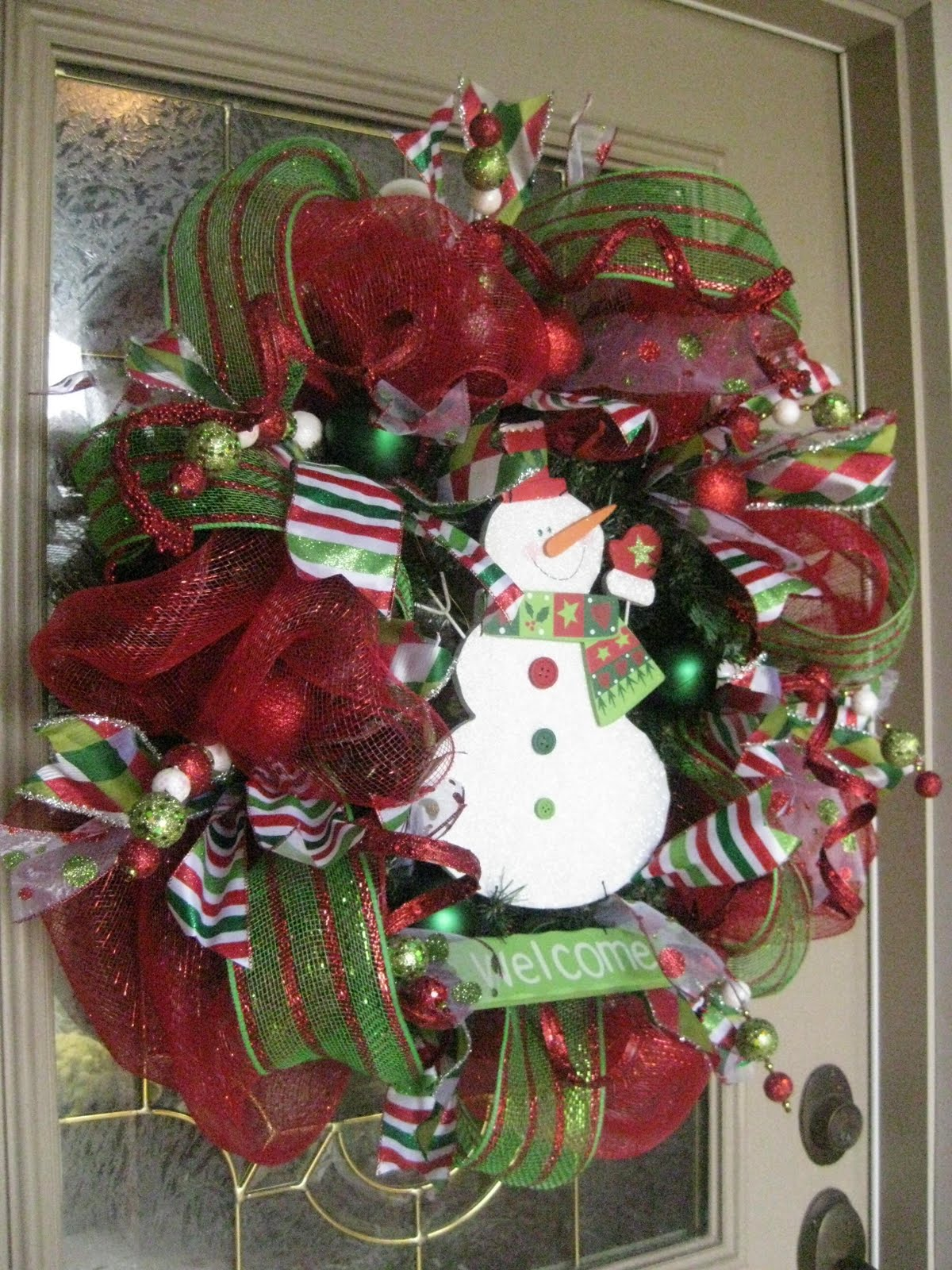 christmas-snowman-mesh-wreath-ideas