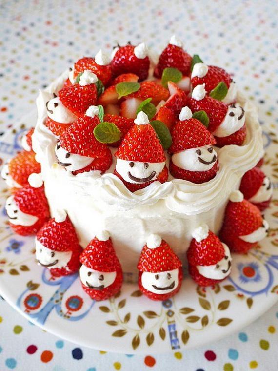 christmas-strawberry-disney-cake-design