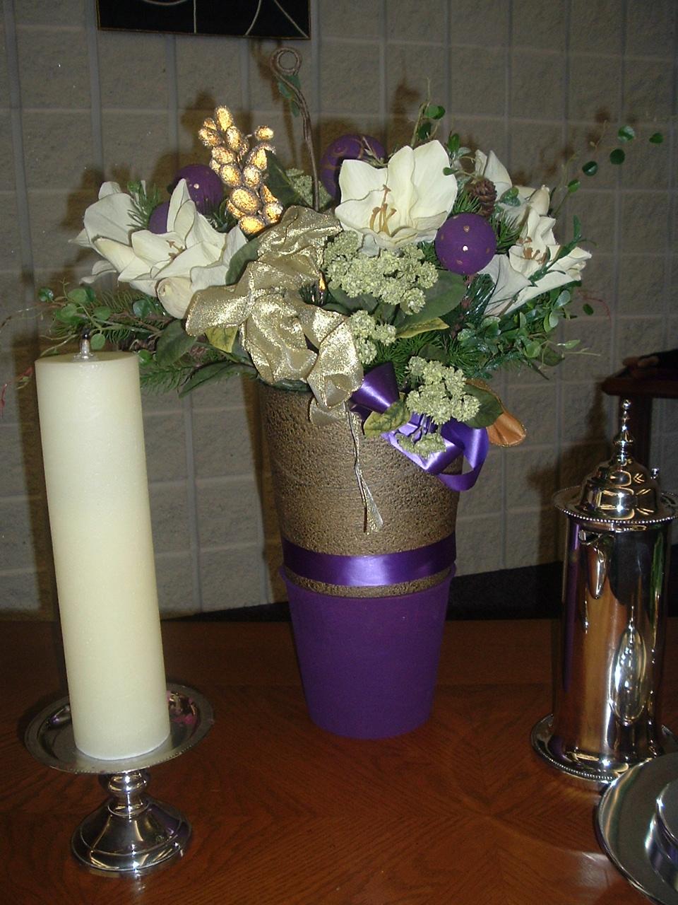Church Sanctuary Flower Arrangements