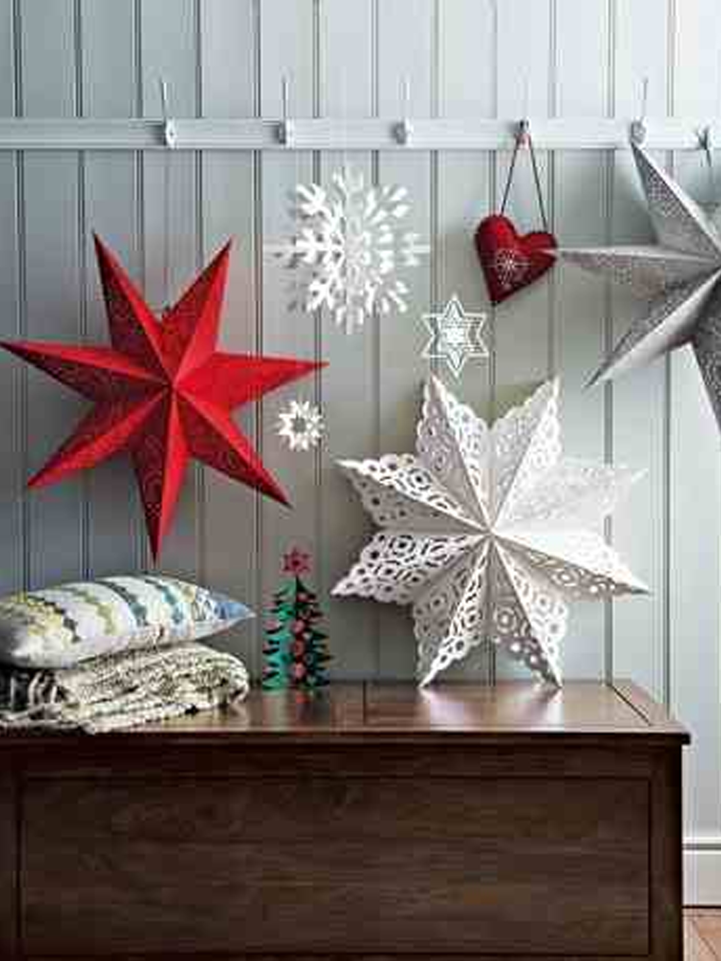 Christmas decoration ideas using paper for