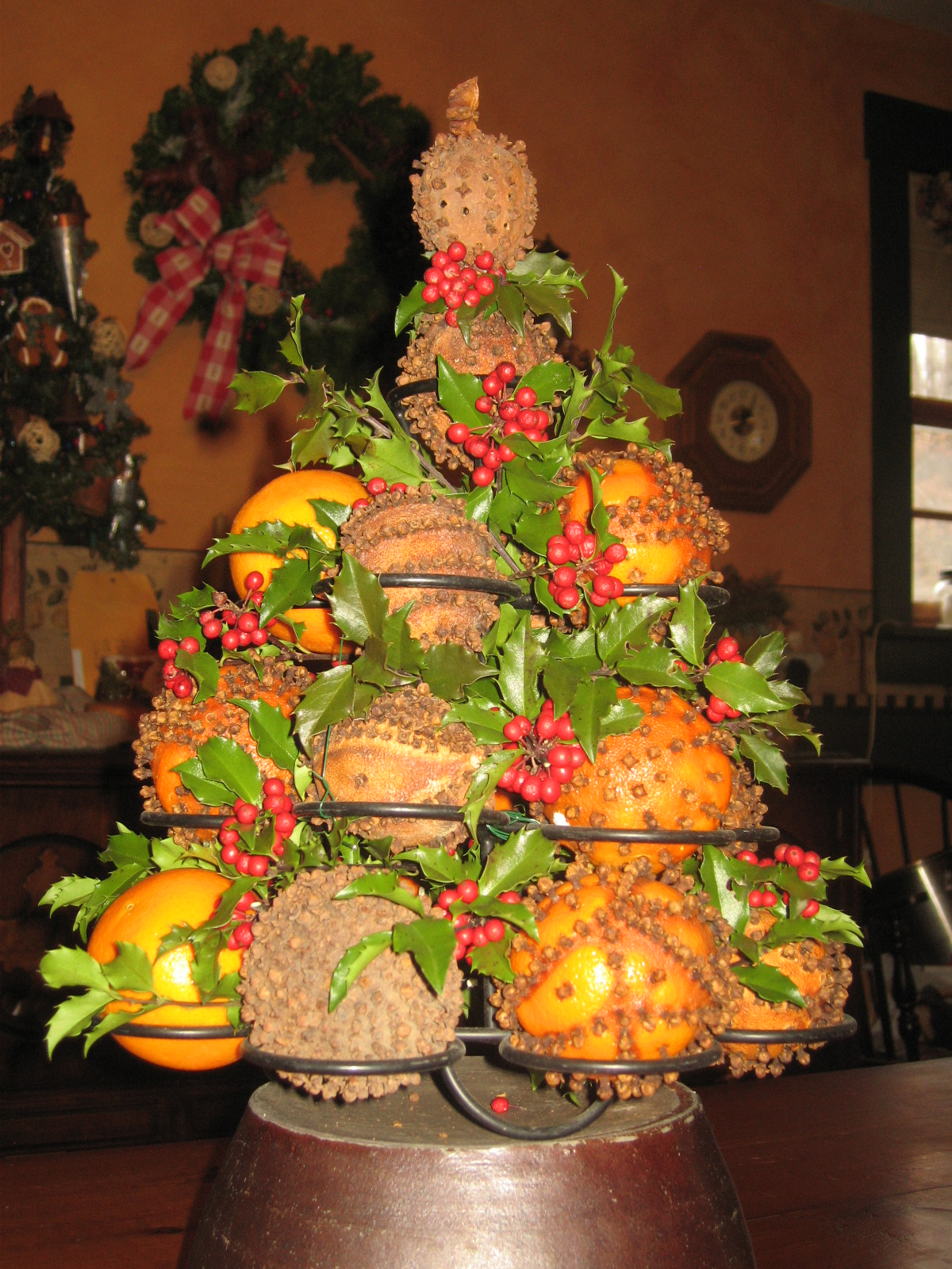 orange christmas tree orange tree decrrations design 12223
