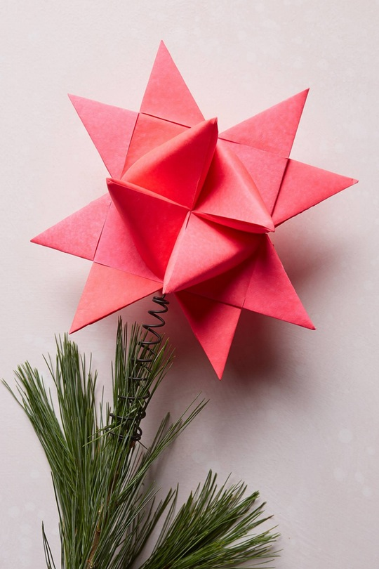 origami-christmas-star-tree-topper