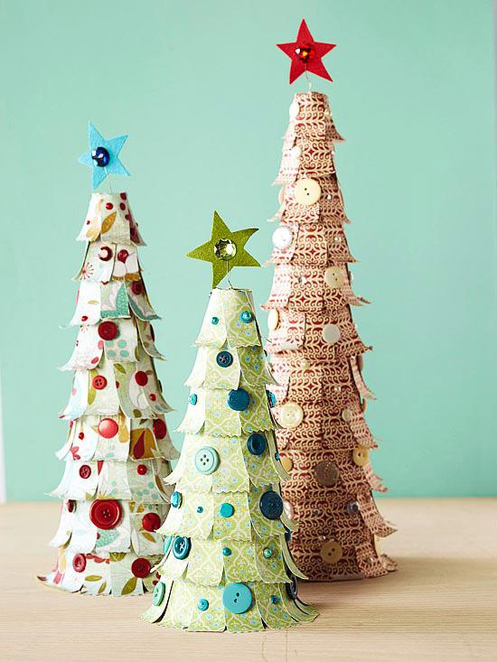 paper-christmas-tree-decoration-homemade