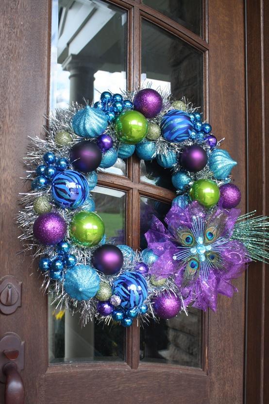 peacock-blue-christmas-ornament-wreath