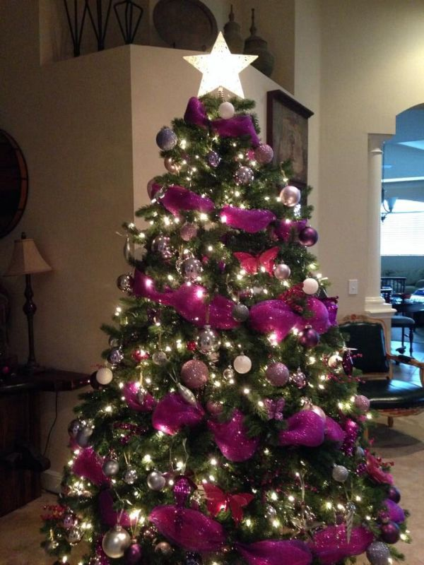 35 Purple Christmas Tree Decorations Ideas You Can't Miss ... Christmas Trees Decorated Purple