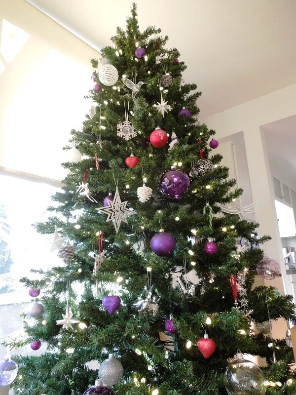 Purple Decorated Christmas Tree