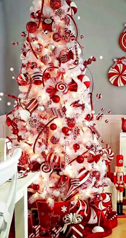 red-and-white-christmas-tree-ideas
