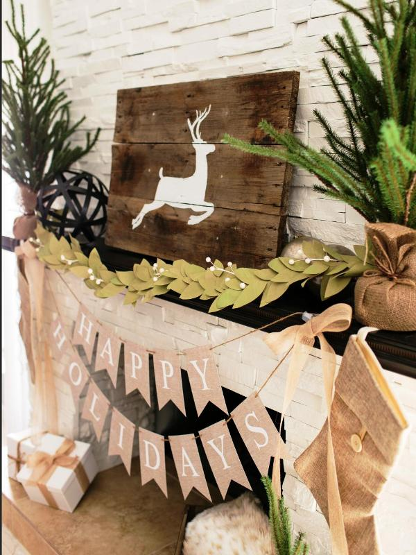 rustic-fireplace-mantel-christmas-decor-diy