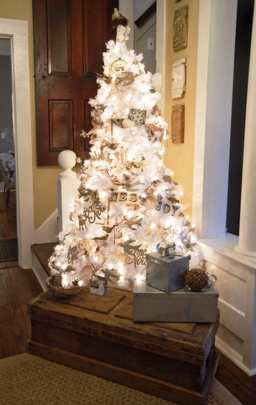 rustic-white-christmas-tree-decorating-ideas-pics