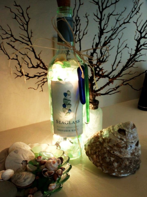 30 Christmas Lights Decorations With Glass Bottles